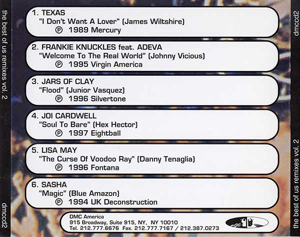 A Guy Called Gerald Compilation Mixes: DMC Remixes - Lisa May - The